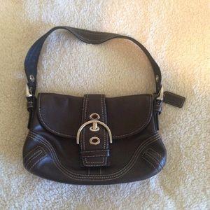 Coach SOHO buckle BoHo hobo brown leather handbag
